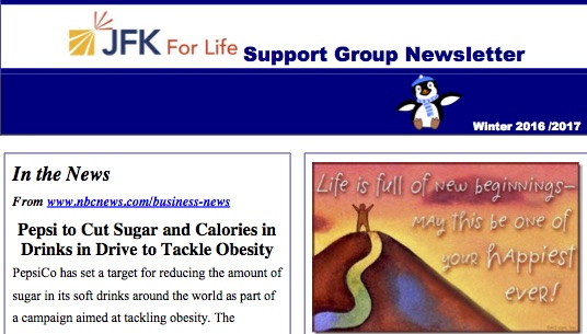 Support Group Newsletter Winter 2016 - 2017